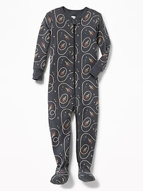 Space-Rocket Print Footed Sleeper for Toddler & Baby
