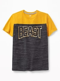 Graphic Football-Style Tee for Boys