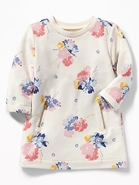 French-Terry Zip-Pocket Dress for Baby