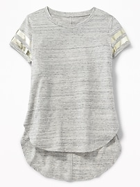Team-Style Tulip-Hem Tunic for Girls