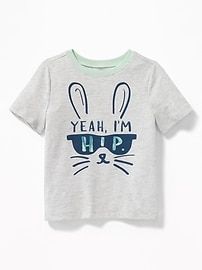 """Yeah, I'm Hip"" Bunny Tee for Toddler Boys"