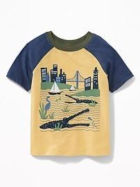 T-shirt à imprimé «Crocodile City» pour tout-petit garçon