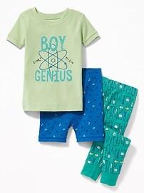 Pyjama 3pièces «Boy Genius» pour tout-petit et bébé
