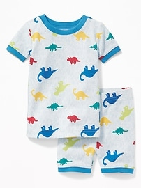 Dinosaur-Camo Print Sleep Set for Toddler & Baby