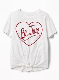 Graphic Tie-Front Tee for Girls