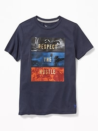 T-shirt à imprimé Eco Go-Dry pour garçon