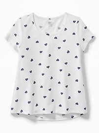 A-Line Soft-Washed Swing Tee for Girls