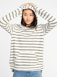 Relaxed French-Terry Pullover Hoodie for Women