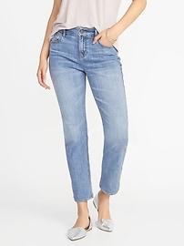 Jean Power à taille mi-haute, c'est-à-dire le jean droit parfait pour femme