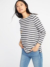 Relaxed Mariner-Stripe French-Terry Top for Women