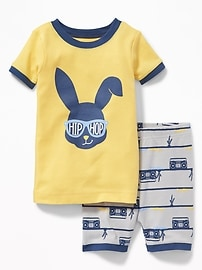 """Hip Hop"" Bunny Sleep Set for Toddler & Baby"
