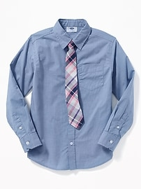Shirt & Tie Set for Boys