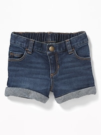 Cuffed Denim Shorts for Toddler Girls