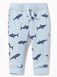 Patterned Pull-On Jersey Pants for Baby