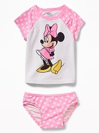 Disney&#169 Minnie Mouse Rashguard Swim Set for Toddler Girls