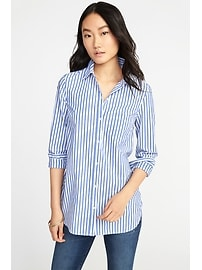 Classic Relaxed Striped Tunic for Women