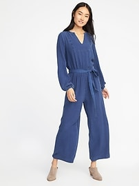 Tie-Waist Tencel&#174 Jumpsuit for Women