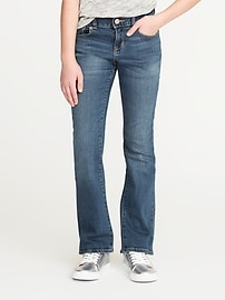 Medium-Wash Boot-Cut Jeans for Girls