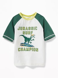 """Jurassic Surf Champion"" Rashguard for Toddler Boys"