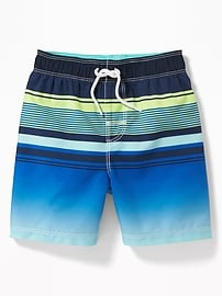 Multi-Color Striped Swim Trunks for Toddler Boys