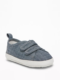 Chambray Slip-Ons for Baby