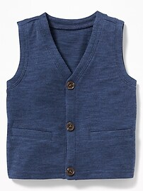 V-Neck Button-Front Vest for Baby