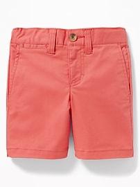 Built-In Flex Twill Shorts for Toddler Boys