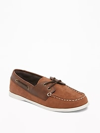 Sueded Boat Shoes for Boys