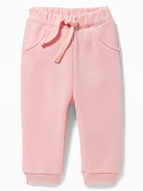 Fleece U-Shaped Pants for Baby