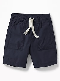 Pull-On Poplin Shorts for Toddler Boys