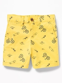 Printed Built-In Flex Twill Shorts for Toddler Boys