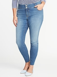 Smooth & Slim Plus-Size Built-In Sculpt High-Rise Rockstar Jeans