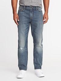 Rigid Straight Jeans for Men