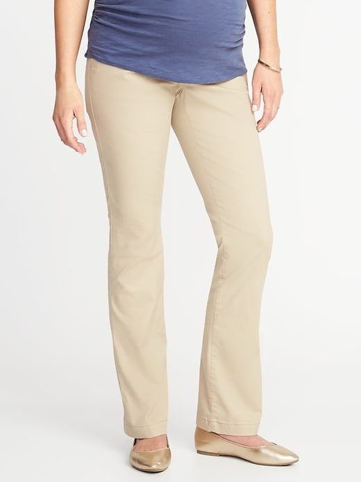 Maternity Full-Panel Everyday Boot-Cut Khakis