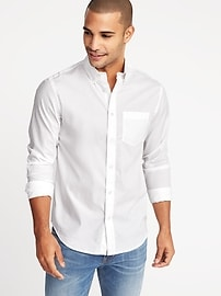 Chemise classique Toujours-blanc Built-in Flex, coupe standard pour homme
