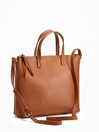 Zip-Top Shoulder Bag for Women