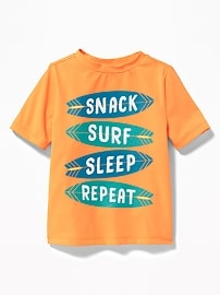 """Snack Surf Sleep Repeat"" Rashguard for Toddler Boys"