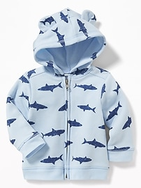 Full-Zip Critter Hoodie for Baby