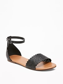 Perforated Two-Piece Sandals for Girls