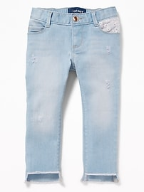 Skinny Step-Hem Jeans for Toddler Girls