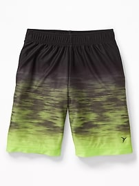 Gradient-Print Performance Shorts for Boys