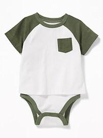 Cache-couche t-shirt 2 en 1 à couleurs contrastantes pour bébé