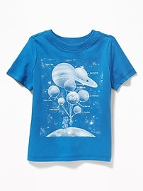 T-shirt à col rond à imprimé pour tout-petit garçon