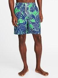 """Printed Swim Trunks for Men (8"""")"""