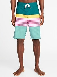 "Built-In Flex Printed Board Shorts for Men (10"")"