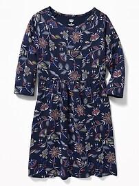 Robe en jersey ajustée et évasée pour fille