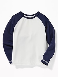 Color-Blocked Raglan-Sleeve Rashguard for Toddler Boys