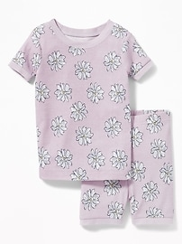 Daisy-Print Sleep Set for Toddler & Baby