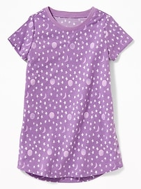 Printed Sleep Dress for Toddler & Baby