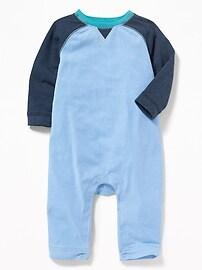 Raglan-Sleeve One-Piece for Baby